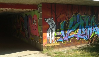 Brudermühlbrücke underpass, Munich, Germany, August 2015