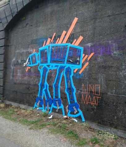 Dino Maat - Awesome Tape-art