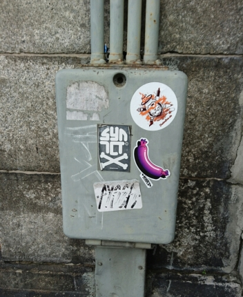 HNRX's new wurst stickers are taking over from the old blue ones