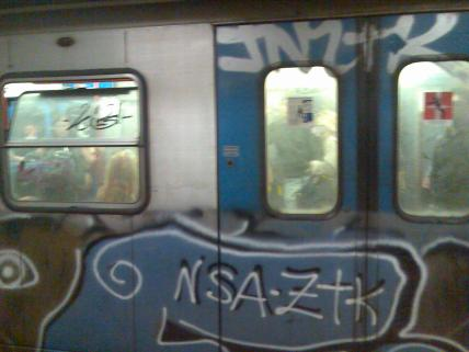 Possibly the first sprayed trains I had ever seen. Rome, Italy - May 2007