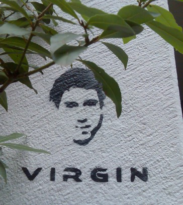 Virgin stencil, Zurich, Switzerland. October 2008