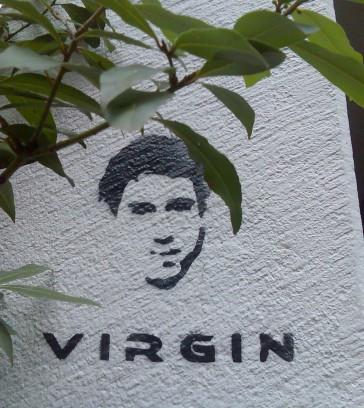 Virgin stencil, Zurich, Switzerland. October 2008