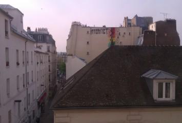 The view from our Montmartre apartment - Paris, France, April 2012
