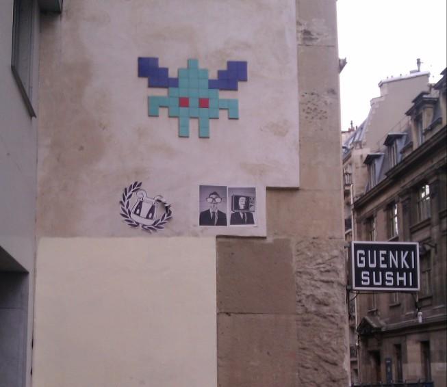 Flying Invader in Paris, France, April 2012