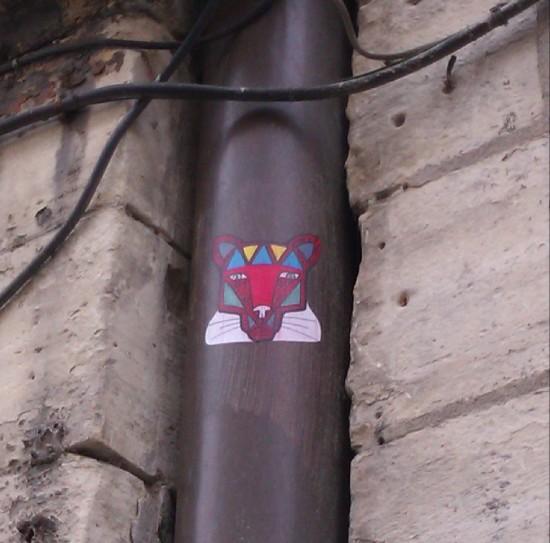 Lion sticker, Paris, France, April 2012