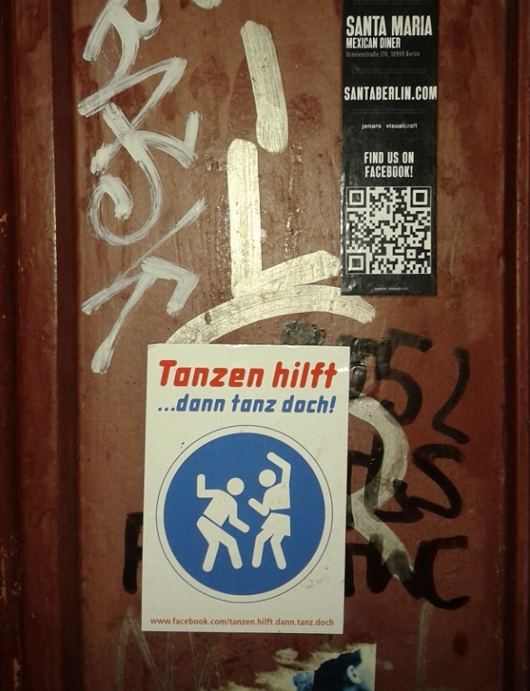 Ja of course dancing helps in Berlin, Germany, June 2014