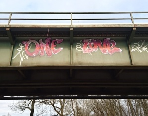One love on the rail bridge